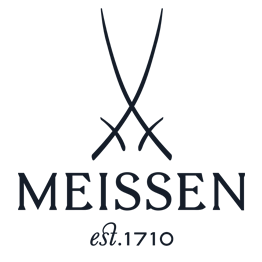 "Dinner plate, Shape ""B-Form"", strewn flowers, royal blue ground, gold (bronze coloured), light, ø 28 cm"
