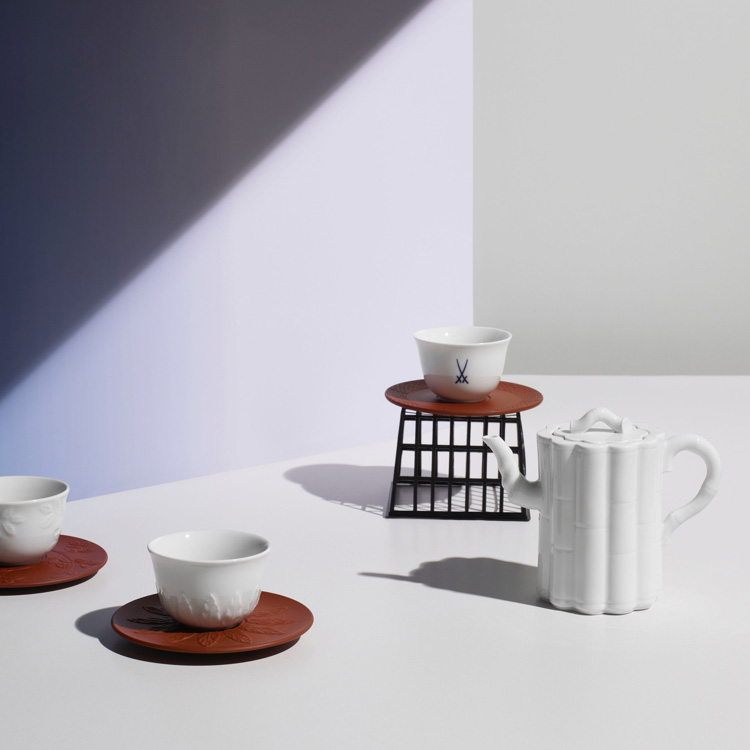 Wahl edle Teetasse mit Untertasse in weiß I MEISSEN Royal Blossom